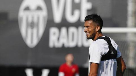 El jugador del Valencia Ezequiel Garay