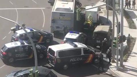Detenido un hombre con 33 arrestos por agredir con un palo a militares en Vigo