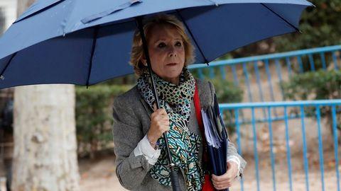 Esperanza Aguirre y su marido se encuentran hospitalizados por coronavirus