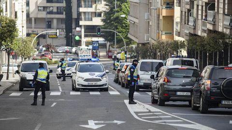 Control de la Policía Local en Ourense
