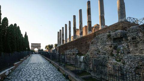 La Via Sacra, calle principal de la antigua Roma.