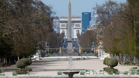 Jardín de las Tulerías en París.