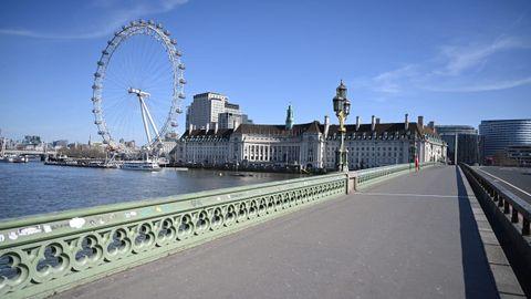 La zona del London Eye, a orillas del Támesis, en Londres.