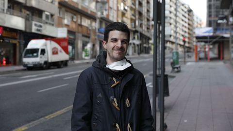 Martín Luis Becerra, usuario de la Asociación de Personas Sordas de Ourense