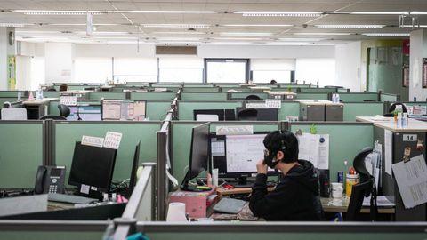 Imagen de archivo de un call center