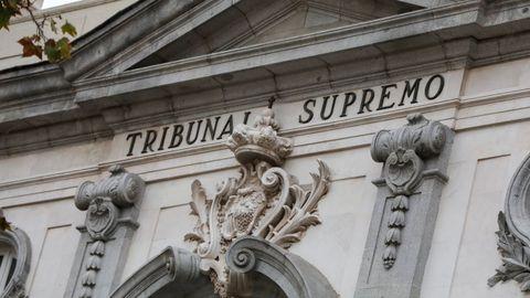 Fachada de la sede del Tribunal Supremo en Madrid