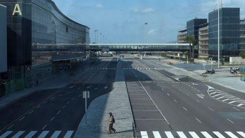 El exterior de la T2 del aeropuerto de Barcelona