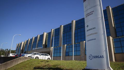 En el Hospital Comarcal da Barbanza, en la imagen, están ingresadas cinco personas