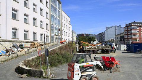 Las obras de demolición  en el interior del Materno siguen avanzando, aunque un poco más lentas