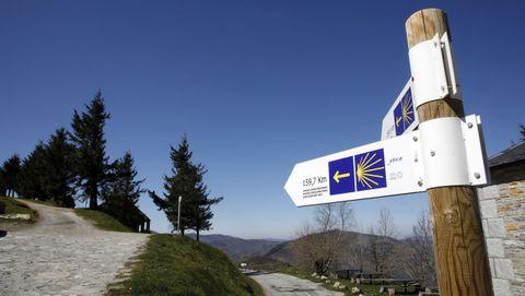 En el entorno de O Cebreiro, puerta de entrada del Camino Francés en Galicia