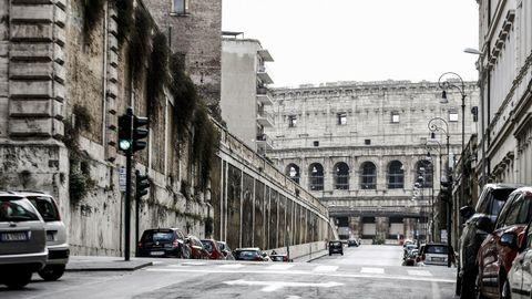 Calles de Roma, totalmente vacías.