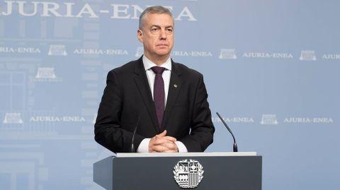 El lendakari, Iñigo Urkullu, es también presidente de turno de la Eurorregión Nueva Aquitania-Euskadi-Navarra