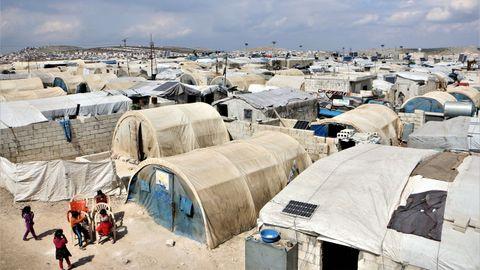 Campo de desplazados internos de Deis Hasán, norte de Siria