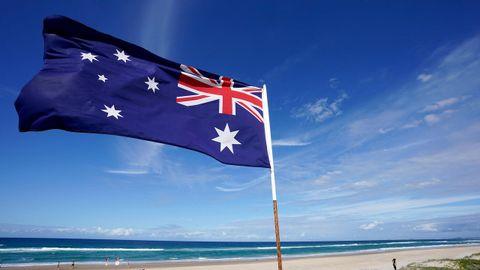 Una playa de Nueva Zelanda.
