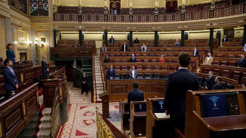 Minuto de silencio al inicio de la sesión en el Congreso de los Diputados