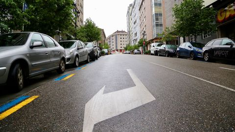 Calles vacías en Vigo