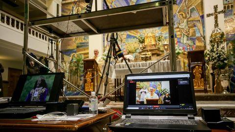 Retransmisión de los oficios de Jueves Santo desde la Basílica del Cristo de Medinaceli, en Madrid