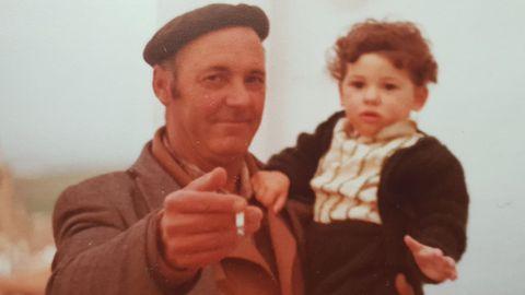 David Gómez con su abuelo