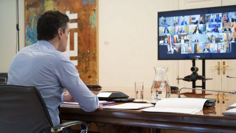Sánchez, en la reunión del domingo con los presidentes autonómicos