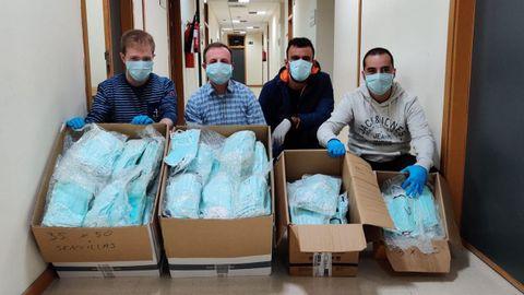 Las mascarillas desinfectadas y empaquetadas en la Universidad de Oviedo
