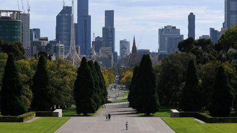 Calles desiertas en Melbourne, Australia.