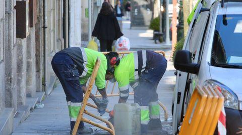A veces es difícil mantener la distancia de seguridad en las obras. Para estas situaciones se utilizan mascarillas