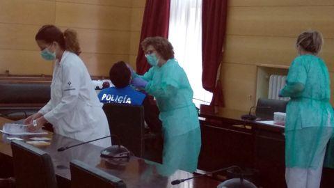 La Policía Local de Langreo se somete a las pruebas del coronavirus
