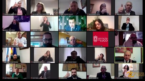 Pleno de la Diputación de Lugo que aprobó vía telemática el Plan Único