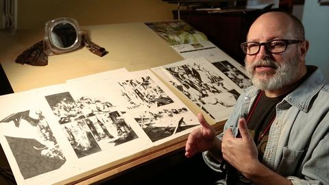 Mike Mignola, dibujante estadounidense creador del universo Hellboy
