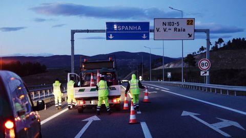 Control de fronteras entre España y Portugal