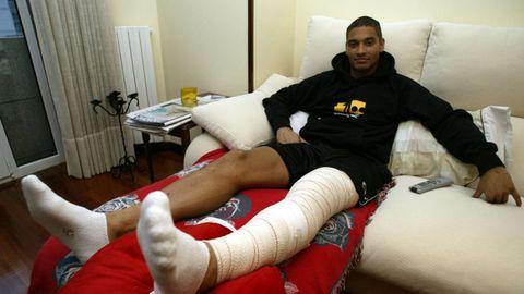 Las lesions marcaron su paso por Vigo