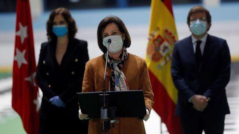 La ministra de Defensa, Margarita Robles, dijo a los familiares que pueden tener la certeza de que en ningún momento estuvieron solos