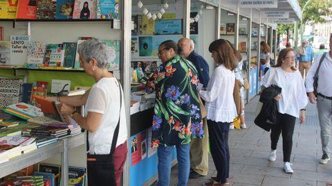 Imaxe da feira do libro da Coruña na súa edición do ano pasado