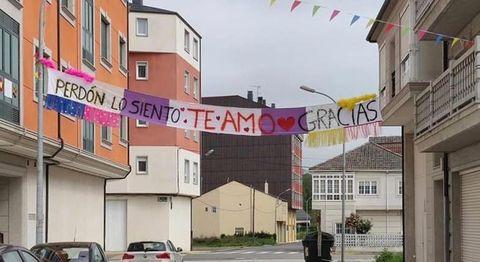 Pancarta que invita a la meditación en Sarria