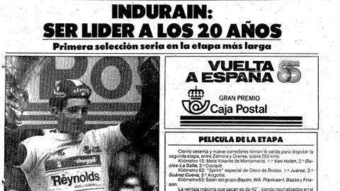 Página de El Mundo Deportivo del día que se puso de líder de La Vuelta