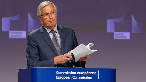 Michel Barnier explicó este viernes a la prensa cómo está la negociación tras la segunda tanda de conversaciones