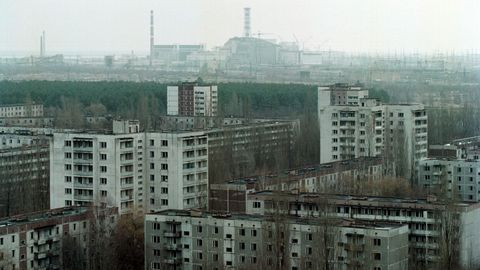 Imagen de archivo de ua parte de la zona de exclusión