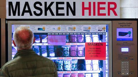 En Berlín se pueden encontrar máquinas expendedoras de mascarillas