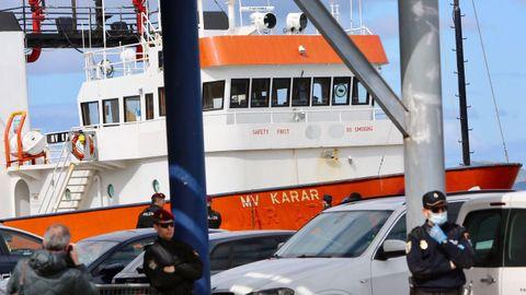 El MV Karar, cuando fue interceptado