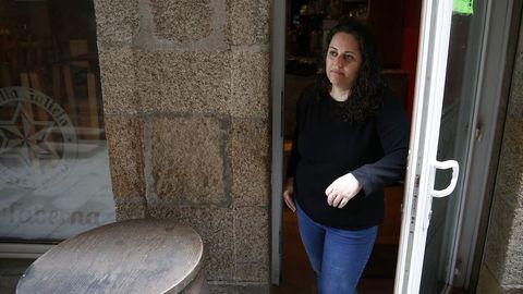 Lucía Lampón, de A Taberna, en Ribeira