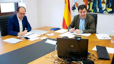 Anxo Lorenzo y Román Rodríguez se reunieron telemáticamente con el sector cultural