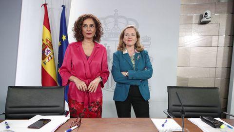Nadia Calviño y María Jesús Montero informan del Plan de Estabilidad