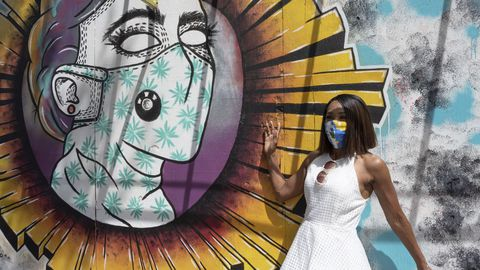 Coronavirus y arte en las calles de Texas, Estados Unidos
