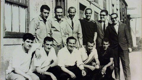 Luis Suárez y el resto de la selección en una quedada veraniega de la selección en A Coruña.