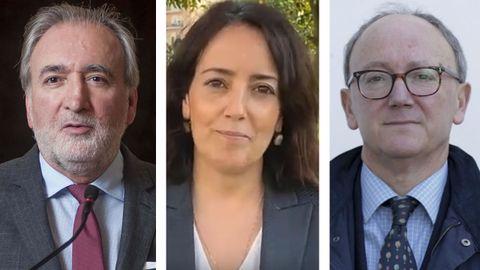 De izquierda a derecha: José María Beneyto, Isabel Carvalhais y José Manuel Sobrino Heredia