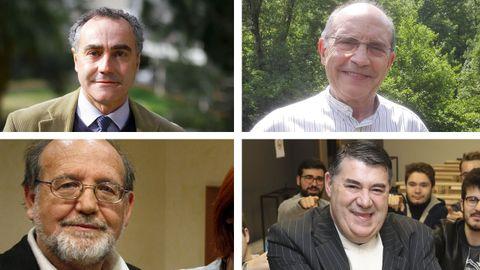 De izquierda a derecha y de arriba a abajo: Ernesto Pascual, Francesc Pallarés, Manuel Reyes Mate y Miguel Anxo Bastos