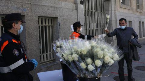 El Concello de Ourense repartió 700 rosas blancas el año pasado por el Día de la Madre