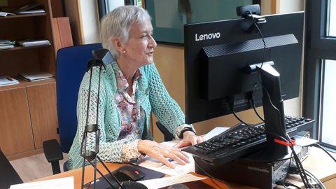 La consejera de Educación, Carmen Suárez, durante su comparecencia telemática en la Junta General