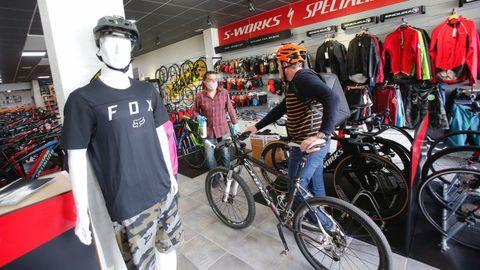 Las tiendas de bicicletas vieron como se agotaban los stocks.