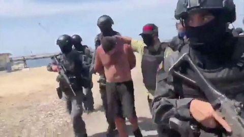 El régimen de Maduro informó de la detención de trece implicados en la incursión marítima